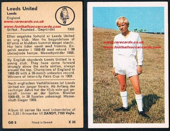 1970 Dandy Gum Leeds United kit